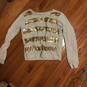 Forever 21 Light Sweatshirt with Sparkles